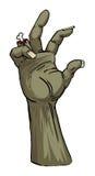 Mão do zombi Foto de Stock