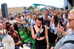 MO (Duński piosenkarz i kompozytor podpisujący Sony Music Entertainment) występ przy sonaru festiwalem Zdjęcia Stock