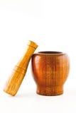 moździerz drewniany Obraz Stock