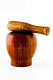 moździerz drewniany Obrazy Stock