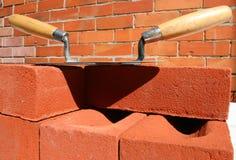 moździerze kielnie brick Obrazy Royalty Free