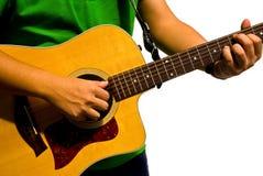 Mão e guitarra Fotografia de Stock Royalty Free
