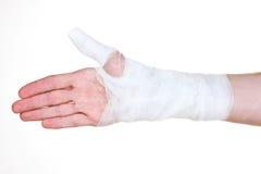 Mão enfaixada Imagem de Stock Royalty Free