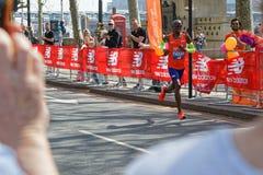 Mo Farah biega Londyńskiego maraton zdjęcie royalty free