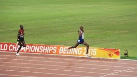 Mo Farah ganha os 10.000 medidores em campeonatos mundiais de IAAF no Pequim, China Fotografia de Stock Royalty Free