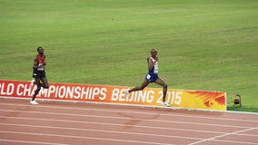 Mo Farah wins the 10,000 metres at IAAF World Championships in Beijing, China Royalty Free Stock Photography
