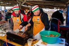 12mo festival gastronómico internacional de carniceros en el transporte imagen de archivo
