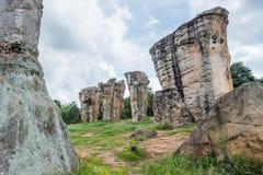 Mo Hin Khao jest Stonehenge Tajlandia w Phu Laen Kha narodzie Zdjęcia Royalty Free