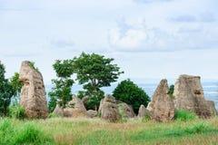 Mo Hin Khao jest Stonehenge Tajlandia w Phu Laen Kha narodzie Fotografia Stock