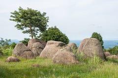 Mo Hin Khao jest Stonehenge Tajlandia w Phu Laen Kha narodzie Fotografia Royalty Free