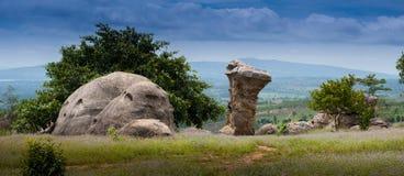 Mo Hin Khao, Nationalpark Phu Laen Kha, Chaiyaph Stockfotos