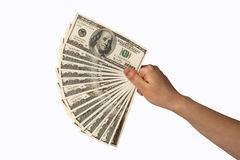 Mão humana com dinheiro Imagem de Stock Royalty Free