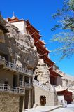 Mo Kao洞穴在敦煌 库存照片