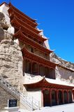Mo Kao Grotto at Dunhuang. The Mo Kao Grotto at Dunhuang Royalty Free Stock Image