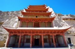 Mo Kao Grotto at Dunhuang. The Mo Kao Grotto at Dunhuang Royalty Free Stock Photography