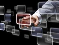 A mão no fluxo de diversos Imagens de Stock