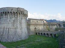 możny Pisan Fortezza Firmafede w Sarzana Fotografia Stock