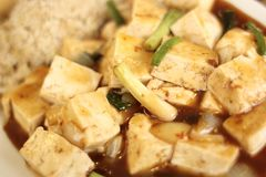 Mo Po tofu dish Royalty Free Stock Photos