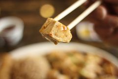 Mo Po tofu dish Stock Photo