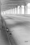 12mo puente de la calle en negro Imagen de archivo