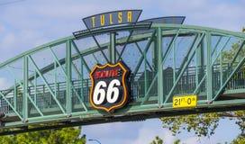 11mo puente de la calle sobre Route 66 en Tulsa Oklahoma Fotos de archivo libres de regalías