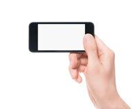 Tomando a foto no smartphone Foto de Stock