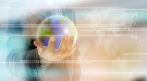 Mão que guardara um mundo Imagens de Stock