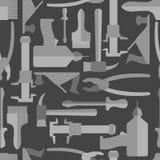 A mão sem emenda da construção utiliza ferramentas o teste padrão Imagens de Stock Royalty Free