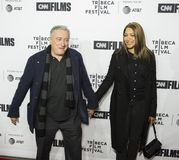 17mo Tribeca festival de cine de Robert DeNiro y de Grace Hightower Kick Off Fotografía de archivo
