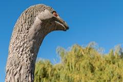 Moa绝种鸟雕象,昆斯敦新西兰头  免版税库存图片