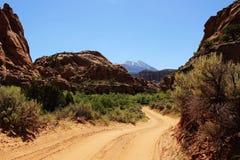Moab baksidaväg Arkivbild