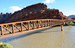 Moab Mountain Bike Bridge Royalty Free Stock Images