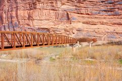 Moab Pedestrian Bridge stock photo