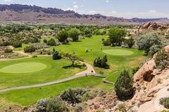 Moab pole golfowe Zdjęcia Royalty Free