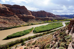 Moab Portal View of Colorado River Stock Images