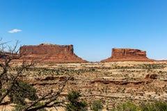 Moab Utah, arcos y parques nacionales de Canyonlands Imagen de archivo