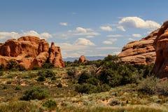 Moab Utah, arcos y parques nacionales de Canyonlands Fotos de archivo