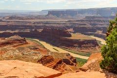 Moab Utah, arcos y parques nacionales de Canyonlands Foto de archivo libre de regalías