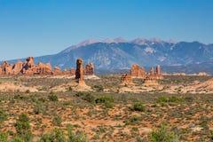MOAB, UTAH - AUGUST 28. Petrified Dunes the Arches National Park, Utah, USA Royalty Free Stock Image