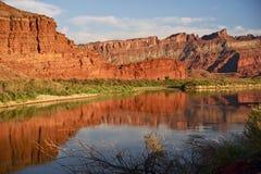 Moab Utah Colorado Rivier Royalty-vrije Stock Afbeeldingen