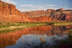 Moab Utah il fiume Colorado Immagini Stock Libere da Diritti