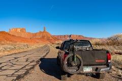 3/21/19 Moab, Utah 2017 Toyota Tacoma die backroads van Moab, Utah onderzoeken royalty-vrije stock afbeeldingen