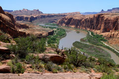 Moab, Utah und der Colorado Lizenzfreie Stockfotos