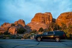 Moab Utah wölbt nationales kampierendes Teufellager stockfotografie