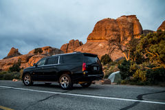 Moab Utah wölbt nationales kampierendes Teufellager 3 stockfoto