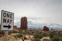 Moab Utah wölbt Naturschutzpark-Felsen 4 stockbild