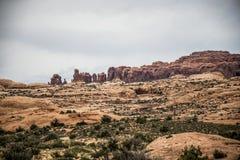 Moab Utah wölbt Naturschutzpark-Felsen 7 lizenzfreie stockfotos