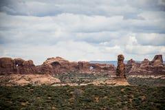 Moab Utah wölbt Naturschutzpark-Felsen 8 lizenzfreie stockbilder