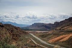 Moab Utah wölbt Naturschutzpark-Sand-Felsen stockfoto