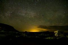 Moab Utah wölbt Naturschutzpark-Sternnacht 2 lizenzfreie stockfotografie
